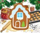 Biscoito de Natal em forma de casa