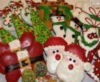 Cookies de Natal bonitas de várias formas