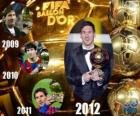 Lionel Messi Ballon d'Or da FIFA 2012