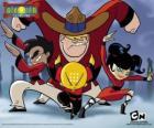 Os quatro jovens monges, protagonistas de Duelo Xiaolin