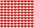 100 corações, cem corações para celebrar o Dia dos Namorados, Dia de São Valentim