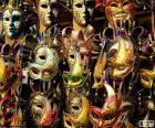 Máscaras clássicas de carnaval