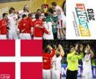 Dinamarca, a medalha de prata no Mundial de andebol 2013