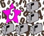 Número 5, de uma estrela com cinco caixas de correio