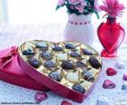 Chocolates de coração
