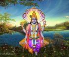 Vixnu, o deus preservador do Trimurti