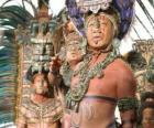 Sacerdote asteca fez uma oferenda aos deuses
