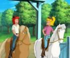 Bibi e Tina, duas garotas que gostam muito dos cavalos