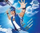 O herói do LazyTown, Sportacus, o atleta saudável