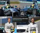 AMG Mercedes Petronas F1 Team 2013, Nico Rosberg e Lewis Hamilton