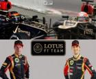 Lotus F1 Team 2013, Kimi Räikkönen e Romain Grosjean
