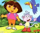 Dora a aventureira e seu amigo macaco Botas