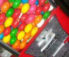 Máquina de vending de bolas de chiclete, goma de mascar ou chiclé