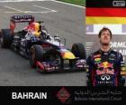 Sebastian Vettel comemora sua vitória no Grand Prix Bahrain 2013