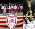 Olympiacos Piraeus, campeão da Euroliga de basquetebol 2013