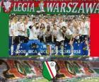 Légia Varsóvia, campeão Ekstraklasa 2012-2013, liga de futebol da Polônia