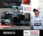 Nico Rosberg comemora sua vitória no Grand Prix de Monaco 2013