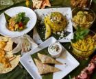 Vários pratos internacionais