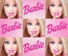 Colagem de Barbie