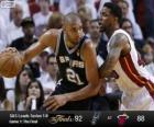 Finais da NBA de 2013, 1 jogo, San Antonio Spurs 92 - Miami Heat 88