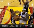 Final da NBA 2013, 6 jogo, San Antonio Spurs 100 - Miami Heat 103
