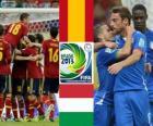 Meias-finais, Espanha - Itália, Copa das Confederações de 2013