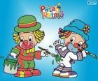 Os palhaços Patati Patatá, dois pintores