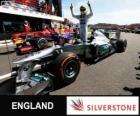 Nico Rosberg comemora sua vitória no Grand Prix da Grã-Bretanha 2013