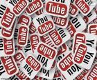 Logotipo do YouTube, um site dedicado à partilha de vídeos