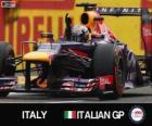 Sebastian Vettel comemora sua vitória no Grande Prêmio da Itália 2013