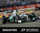 Nico Rosberg - Mercedes - Singapura, 2013