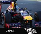 Sebastian Vettel comemora sua vitória no Grande Prémio do Japão 2013