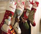 Meias de Natal decoradas
