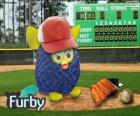 Furby joga beisebol