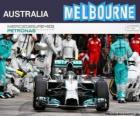 Nico Rosberg comemora sua vitória no Grande Prémio da Austrália 2014