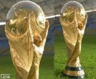 O troféu da Copa do Mundo Brasil 2014