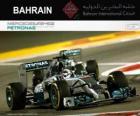 Campeão Lewis Hamilton Grande Prêmio de Bahrain 2014