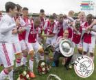Ajax Amsterdã, campeão da liga de futebol holandesa Eredivisie 2013-2014