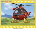 Tom Thomas com seu helicóptero Wallaby One