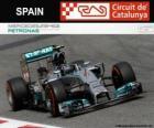 Nico Rosberg - Mercedes - GP da Espanha 2014, 2º classificado