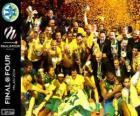 Maccabi Electra Tel Aviv, campeão da Euroliga de basquete 2014