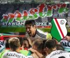Legia Varsóvia, campeão da liga de futebol polonês Ekstraklasa 2013-2014