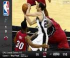 2014 NBA finais, 1º jogo, Miami Heat 95 - San Antonio Spurs 110
