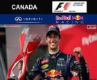 Daniel Ricciardo comemora sua vitória no GP do Canadá de 2014 2014