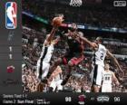 2014 NBA finais, 2º jogo, Miami Heat 98 - San Antonio Spurs 96