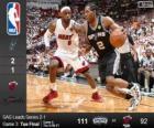 2014 NBA finais, 3 jogo, San Antonio Spurs 111 - Miami Heat 92