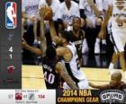 2014 NBA finais, 5ª jogo, Miami Heat 87 - San Antonio Spurs 104