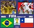 Brasil - Chile, oitava final, Brasil 2014