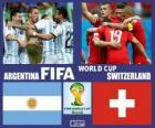 Argentina - Suíça, oitava final, Brasil 2014