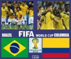 Brasil - Colômbia, quartas de final, Brasil 2014